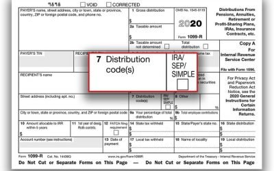 FORM 1099-R ; THE 6 MOST COMMON REASONS YOU RECEIVED IT